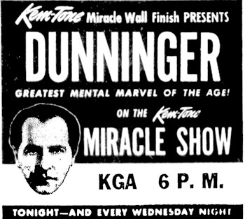 Dunninger THE MENTALIST - Magician Radio, Episode #1
